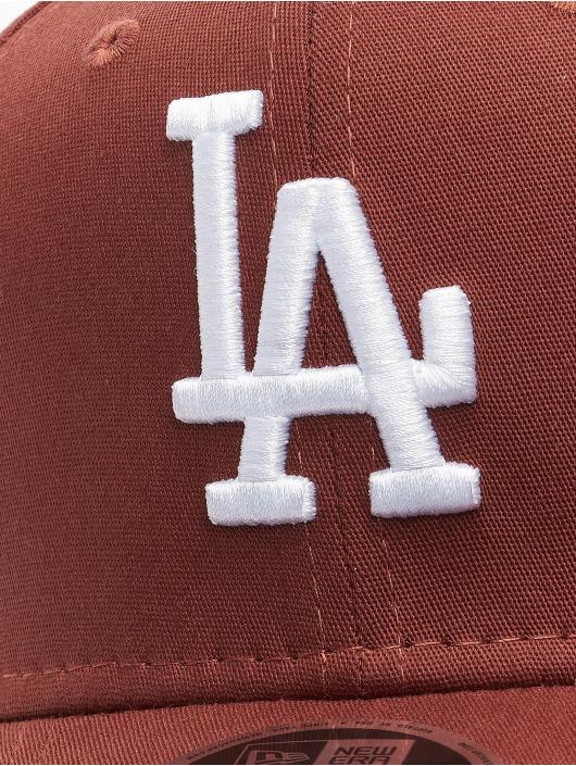 New Era Snapback Caps MLB Los Angeles Dodgers League Essential 9Fifty hnědý