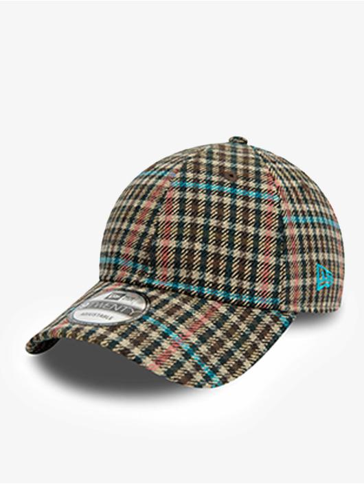 New Era Snapback Caps Check 9Twenty hnědý