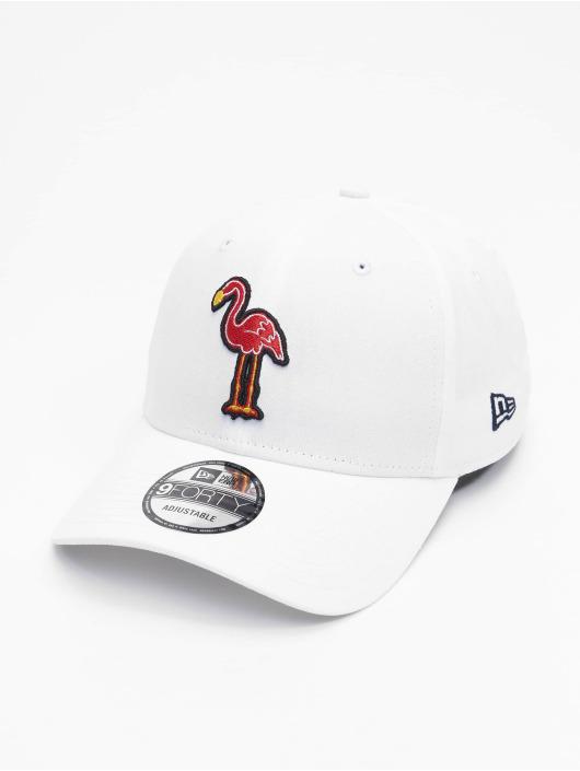 New Era Snapback Caps Minor League Miami Beach Flamingos Patch 9Forty hvid