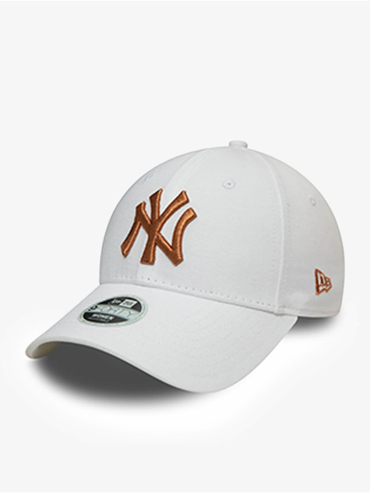 New Era Snapback Caps MLB New York Yankees Metallic Logo 9Forty hvid