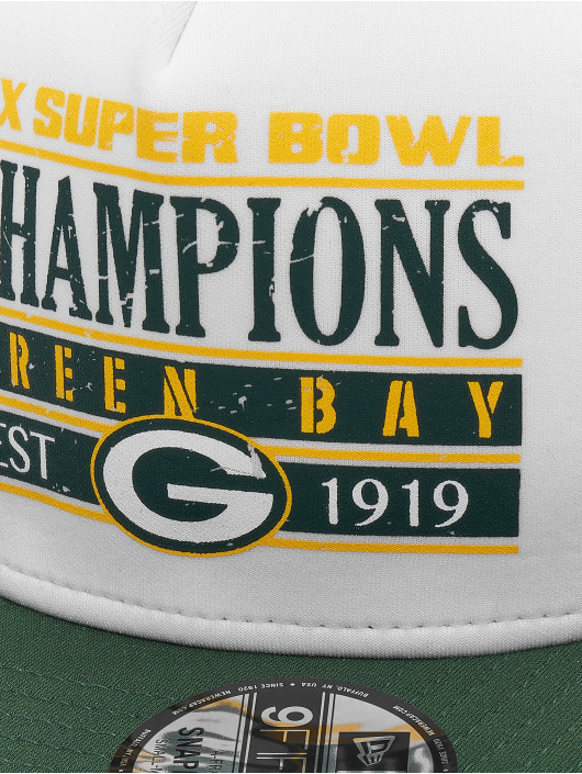 New Era Snapback Caps NFL Champs Pack Trucker Green Bay Packers hvit