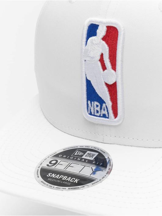 New Era Snapback Caps NBA Featherweight Logoman 9fifty Original Fit hvit