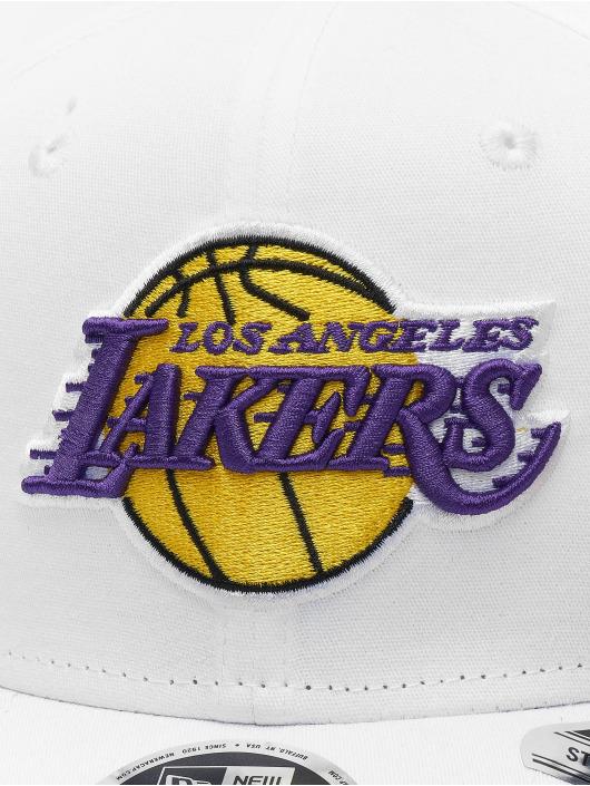 New Era Snapback Caps NBA LA Lakers Stretch Snap 9fifty hvit