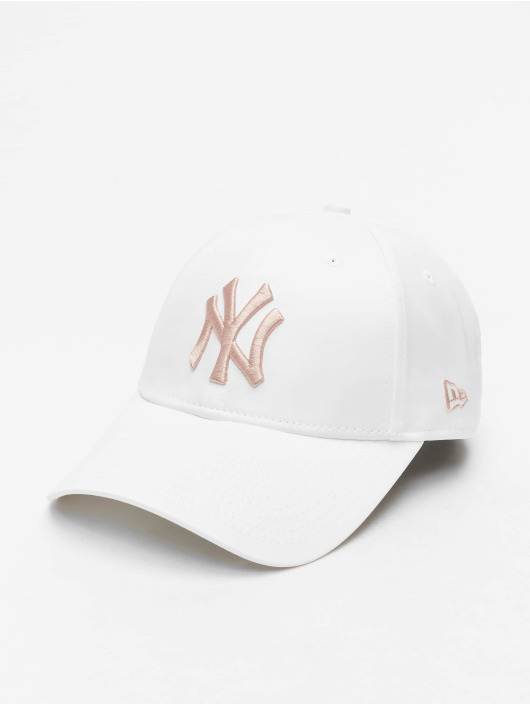 New Era Snapback Caps MLB NY Yankees Satin 9Forty hvit