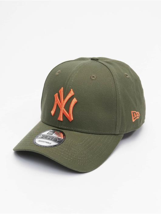 New Era Snapback Caps MLB New York Yankees League Essential 9Forty olivový