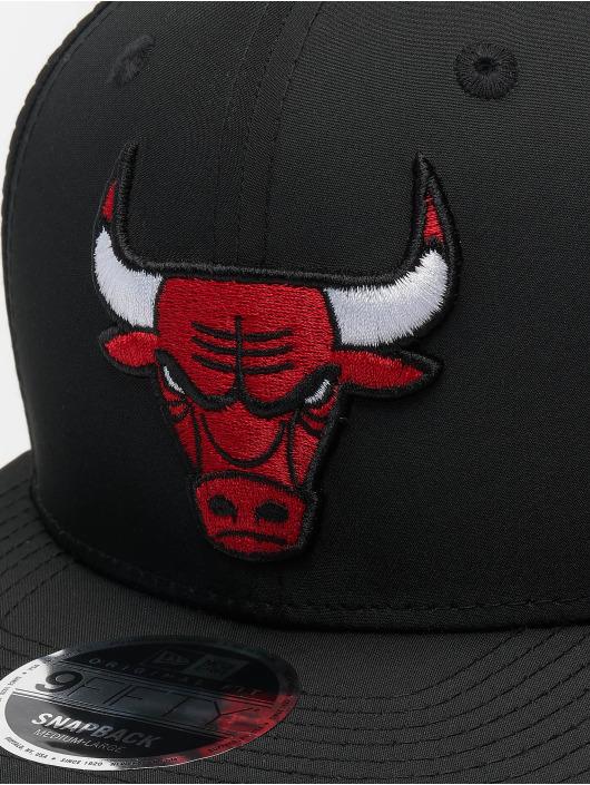 New Era Snapback Caps NBA Chicago Bulls Featherweight 9fifty Original Fit svart