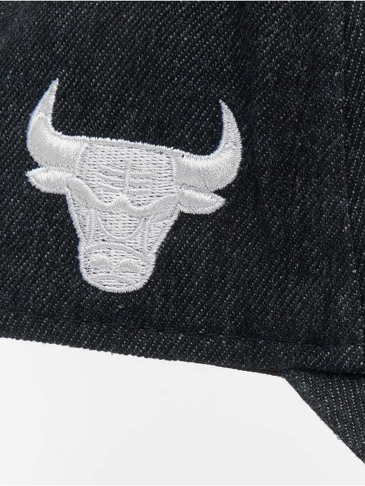 New Era Snapback Caps NBA Chicago Bulls Denim A-Frame Adjustable svart