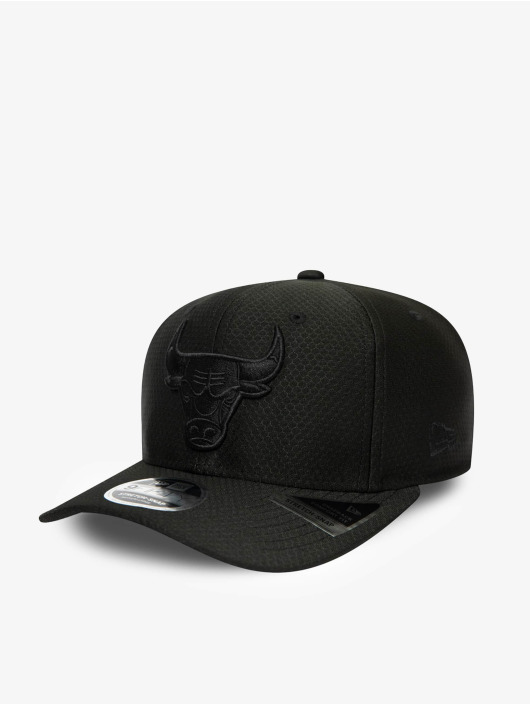 New Era Snapback Caps NBA Chicago Bulls Tonal Team 9Fifty Stretch svart