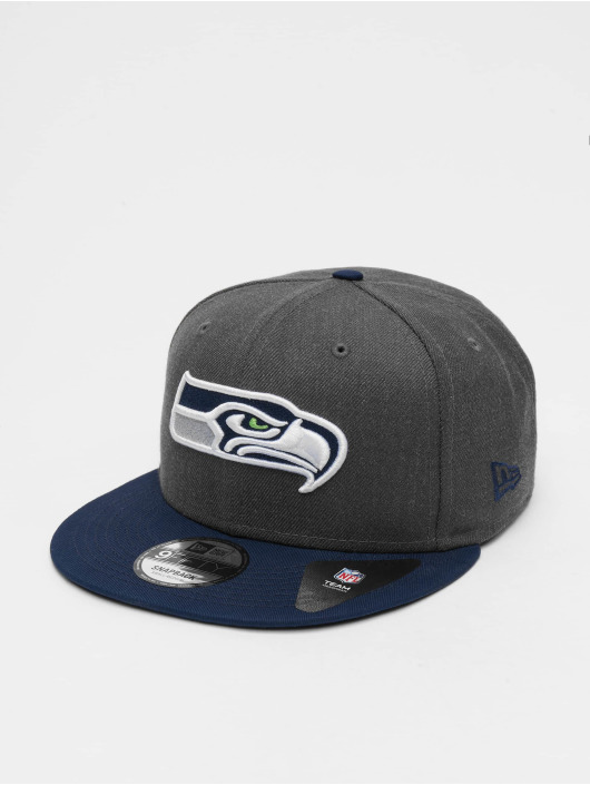 New Era Snapback Caps NFL Heather Seattle Seahawks 9Fifty szary