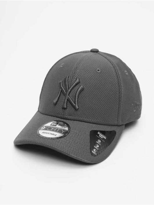 New Era Snapback Caps MLB NY Yankees Mono Team Colour 9Forty szary