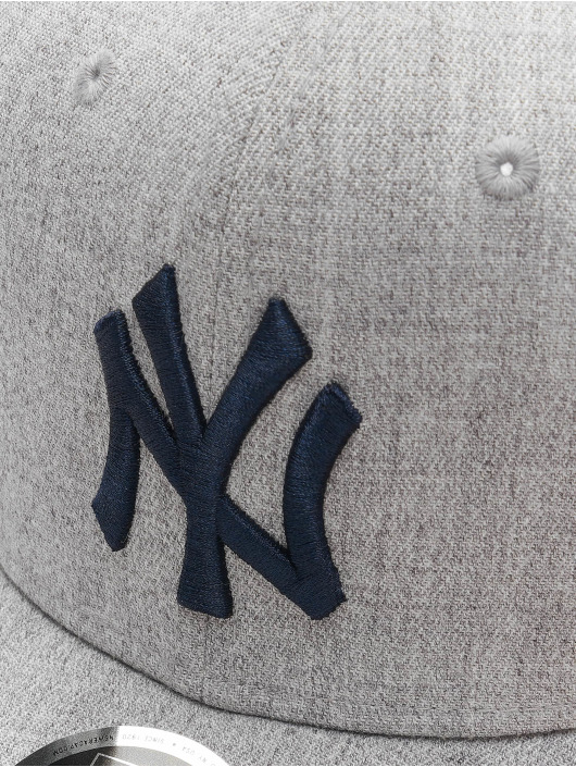 New Era Snapback Caps MLB NY Yankees Heather Base 9Fifty szary