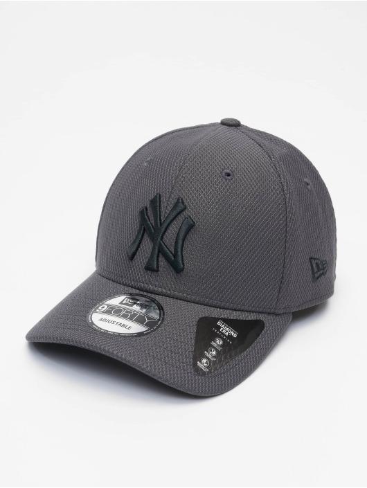New Era Snapback Caps MLB NY Yankees Diamond Era 9forty szary