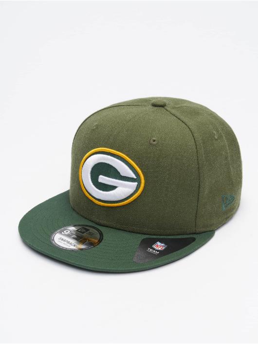New Era Snapback Caps NFL Green Bay Packers Heather Crown vihreä