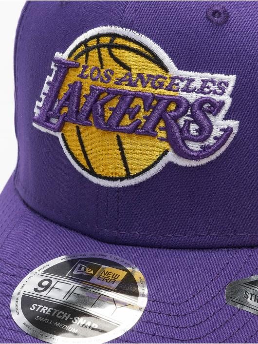 New Era Snapback NBA LA Lakers Team Stretch fialová