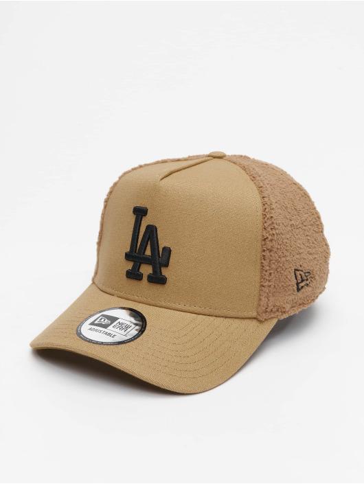 New Era Snapback MLB LA Dodgers Sherpa hnedá