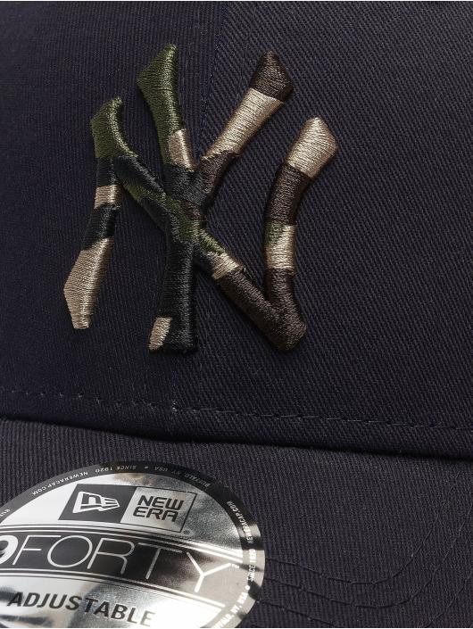 New Era Snapback MLB NY Yankees Camo Infill 9Forty modrá