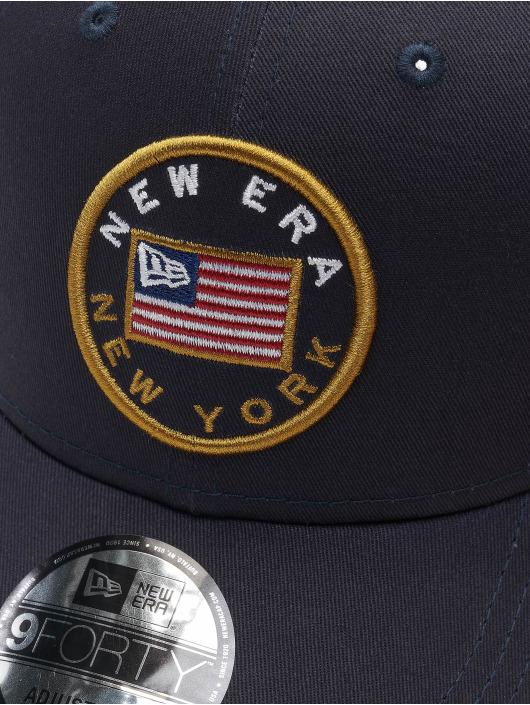 New Era Snapback 9Forty Flagged modrá