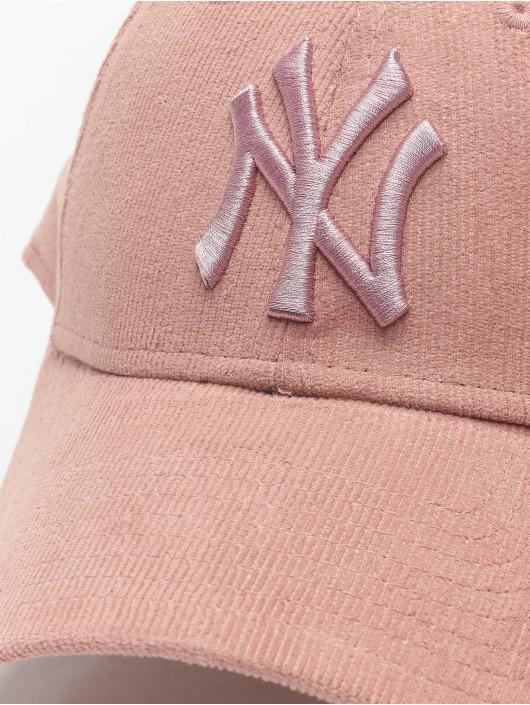 New Era Snapback MLB NY Yankees Pastel Cord 9Forty ružová