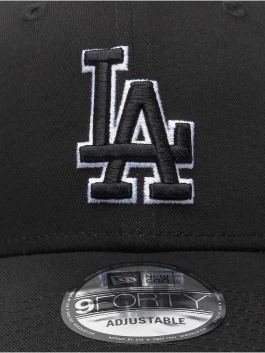 New Era Snapbackkeps Mlb Properties Los Angeles Dodgers Black Base 9forty svart