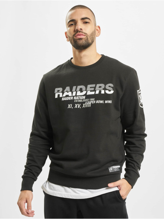 New Era Sweat & Pull NFL Oakland Raiders Wordmark Slogan Crew noir