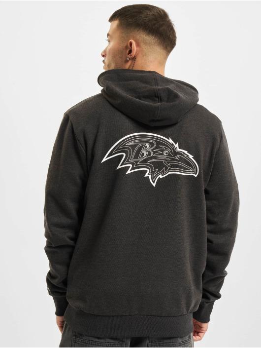 New Era Sweat capuche NFL Baltimore Ravens Outline Logo PO gris