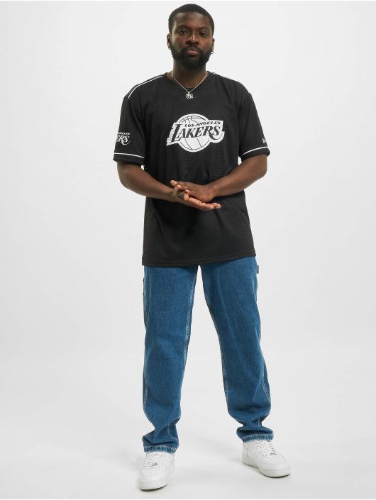 New Era T-paidat NBA Los Angeles Lakers Team Logo Oversized musta
