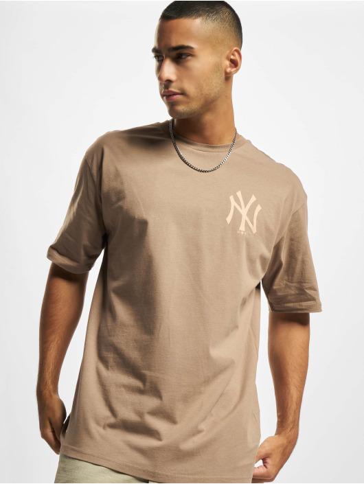 New Era T-paidat MLB NY Yankees Oversized Seasonal Color ruskea
