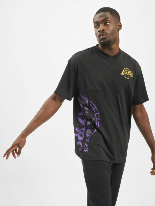 New Era T-Shirt NBA LA Lakers Vertical Wordmark black