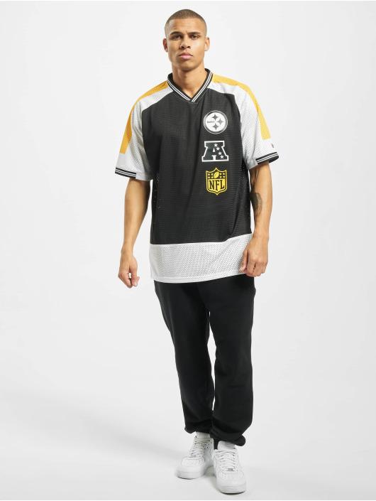 New Era T-Shirt NFL Pittsburgh Steelers Stacked Logo OS black