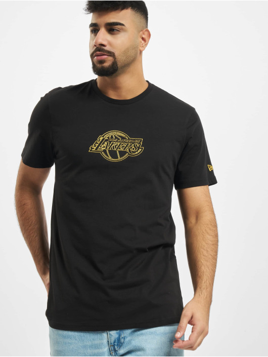 New Era T-Shirt NBA Chain Stitch Los Angeles Lakers black