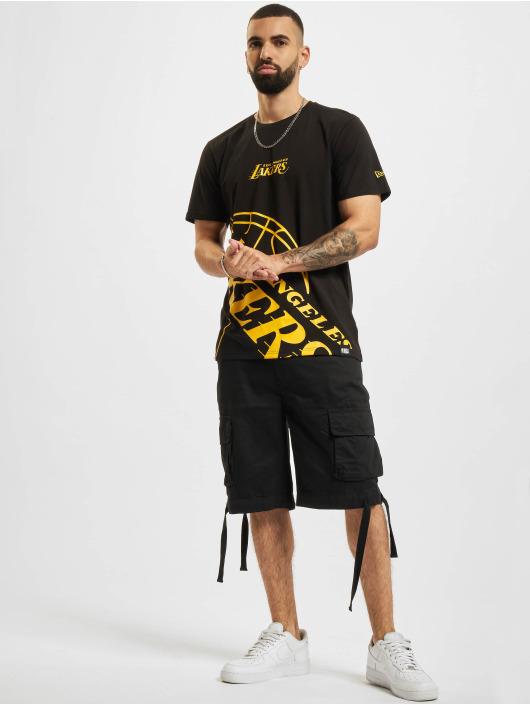 New Era T-Shirt NBA Los Angeles Lakers Enlarged Logo black