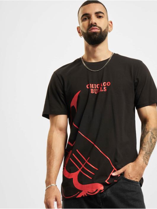 New Era T-Shirt NBA Chicago Bulls Enlarged Logo black