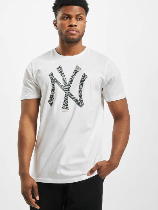 New Era T-Shirt MLB NY Yankees Print Infill blanc