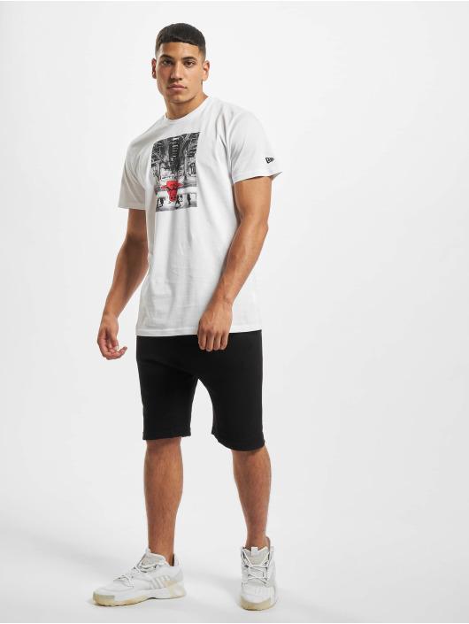 New Era T-Shirt NBA Chicago Bulls Photo Print blanc