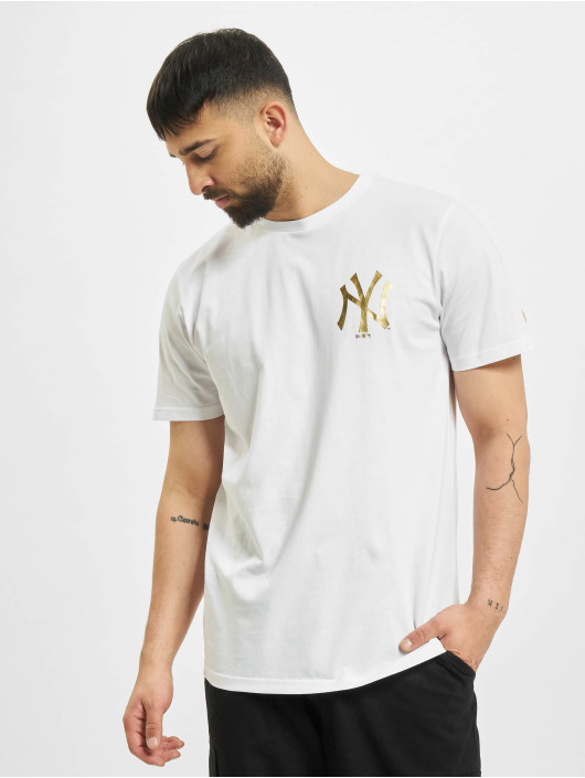 New Era T-Shirt MLB New York Yankees Metalic blanc