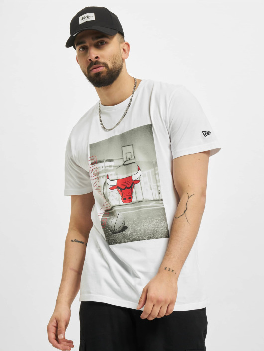 New Era T-Shirt NBA Chicago Bulls Photographic blanc