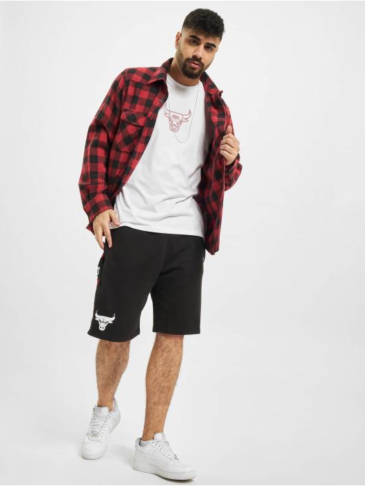 New Era T-Shirt NBA Chicago Bulls Chain Stitch blanc