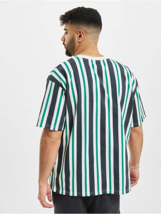 New Era T-Shirt MLB Los Angeles Dodgers Oversized Stripe blanc