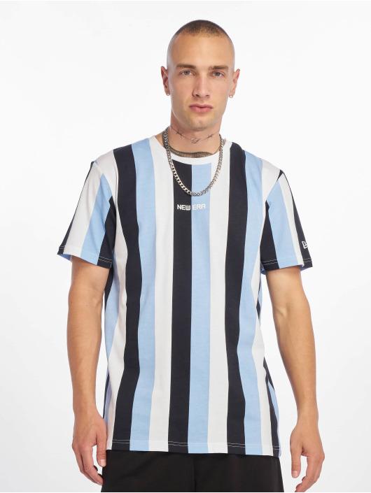 New Era T-Shirt Stripe blau
