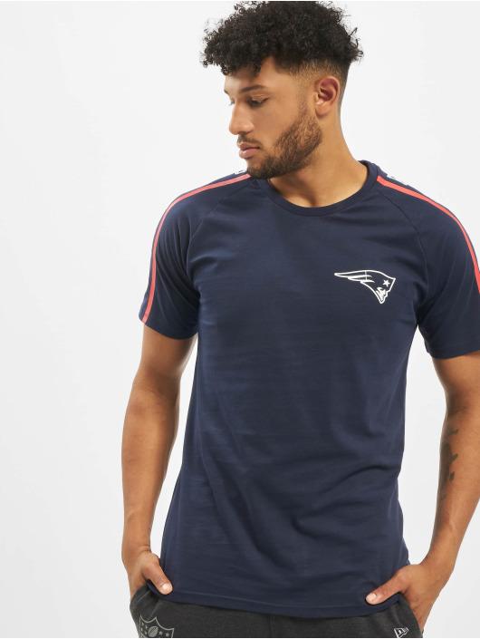 New Era T-Shirt NFL New England Patriots Raglan Shoulder Print blau