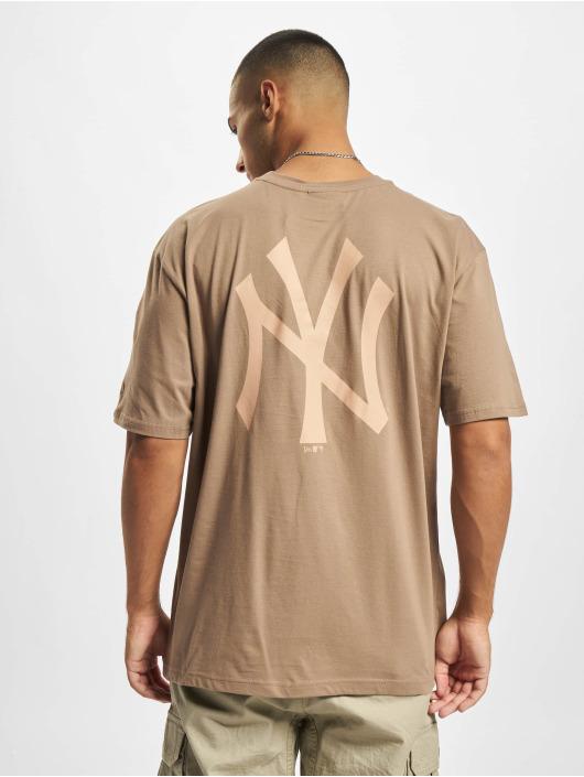New Era T-Shirt MLB NY Yankees Oversized Seasonal Color Blocking braun