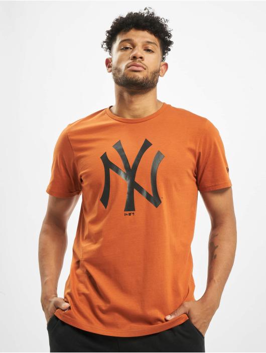 New Era T-Shirt MLB NY Yankees Seasonal Team Logo brun