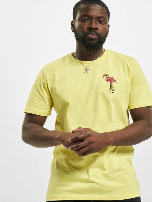 New Era t-shirt Minor League Miami Beach Flamingos geel