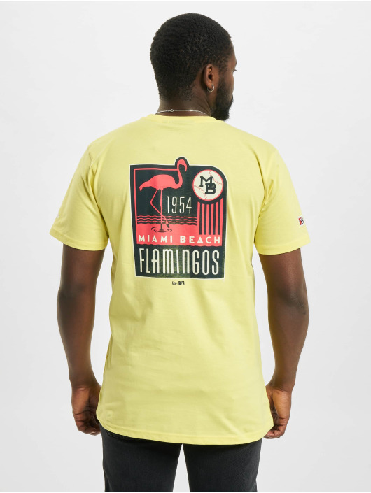 New Era T-Shirt Minor League Miami Beach Flamingos gelb