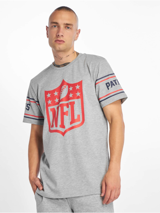 New Era T-Shirt NFL New England Patriots Badge grau