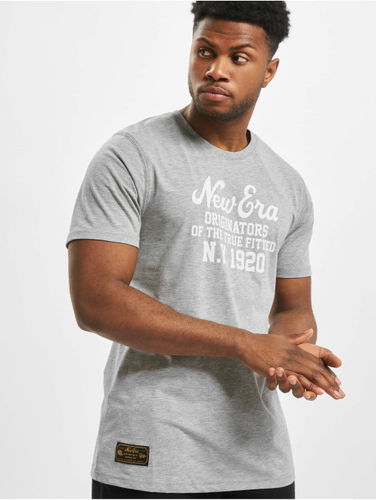 New Era T-Shirt Established Heritage grey
