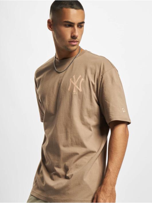 New Era T-shirt MLB NY Yankees Oversized Seasonal Color Blocking marrone