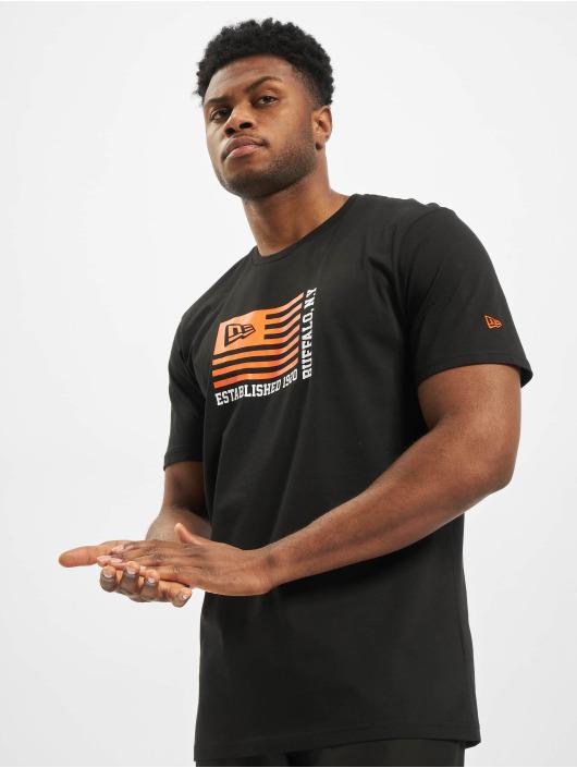 New Era T-Shirt Flag noir