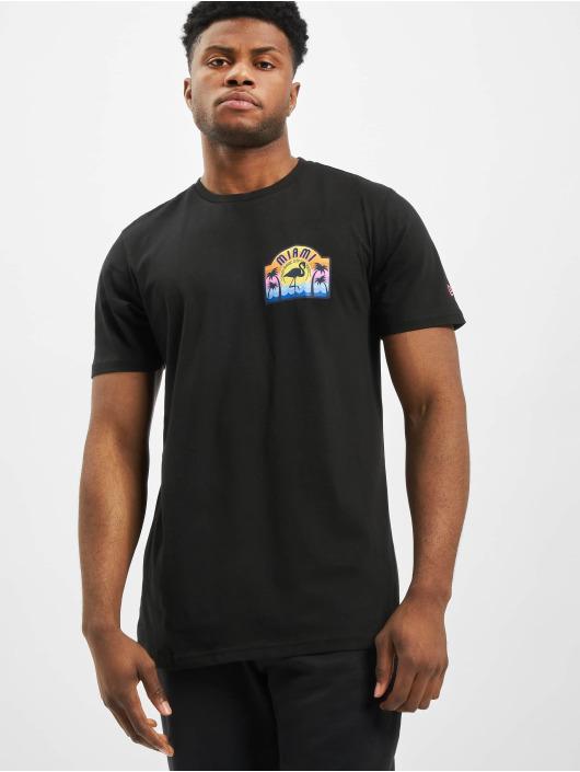 New Era T-Shirt Patch Pack Printed Logo noir
