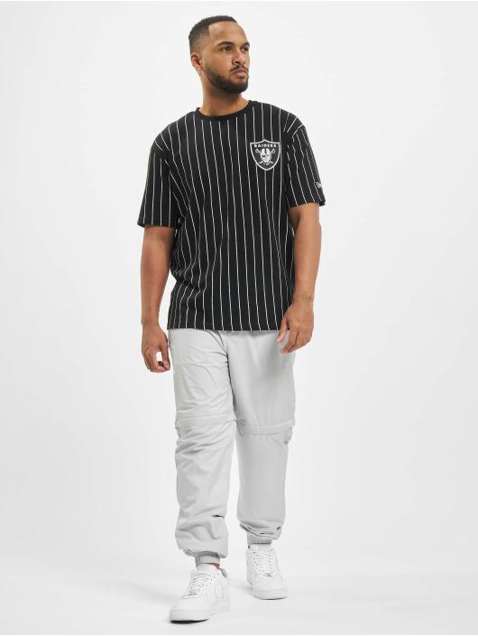 New Era T-Shirt NFL Pinstripe Left Logo Tee Las Vegas Raiders noir